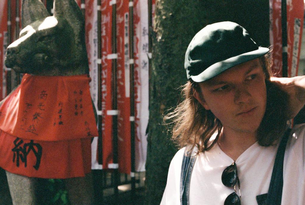 Jo David Meyer Lysne på turné med Wendra Hill i Japan. Foto: Joel Ring