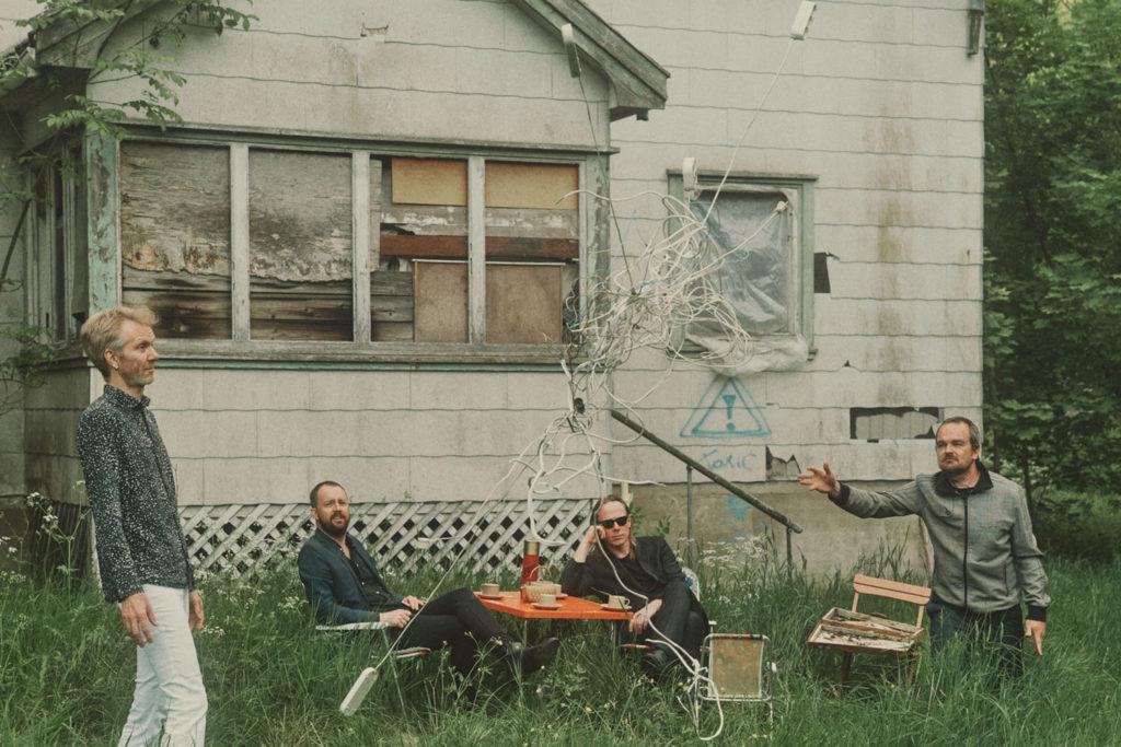 Norsk Film A/S med Skrim, fra venstre: Ståle Storløkken, Gard Nilssen, Stian Westerhus og Morten Qvenild. Foto: Frode Fjerdingstad